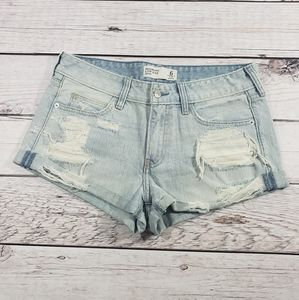Abercrombie & fitch low rise distressed shorts 6